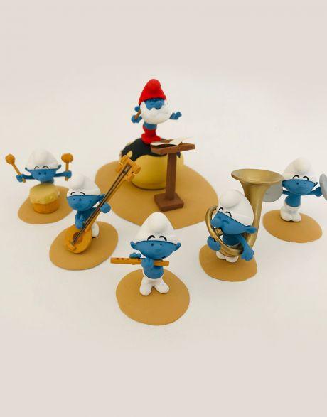 Statua Puffi Fariboles - L'orchestre des Schtroumpfs (Parte 1)