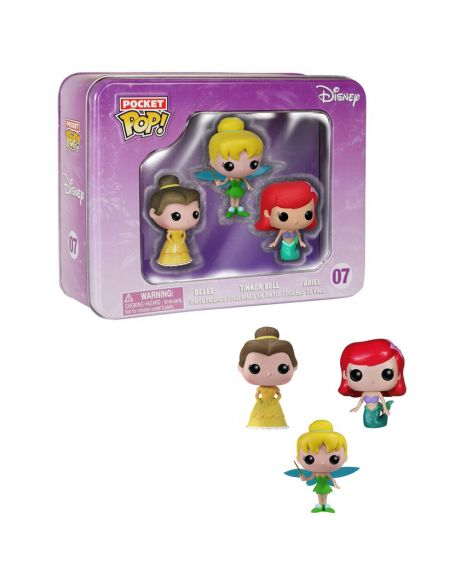 Funko Pocket Pop Box Disney Belle Ariel Tinker Bell