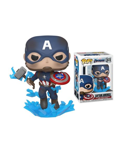 Funko Pop! Marvel Avengers Endgame - Captain America w/Broken Shield & Mjölnir 573