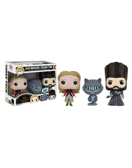 Funko Pop! Alice Kingsleigh / Chessur / Time (3 Pack)