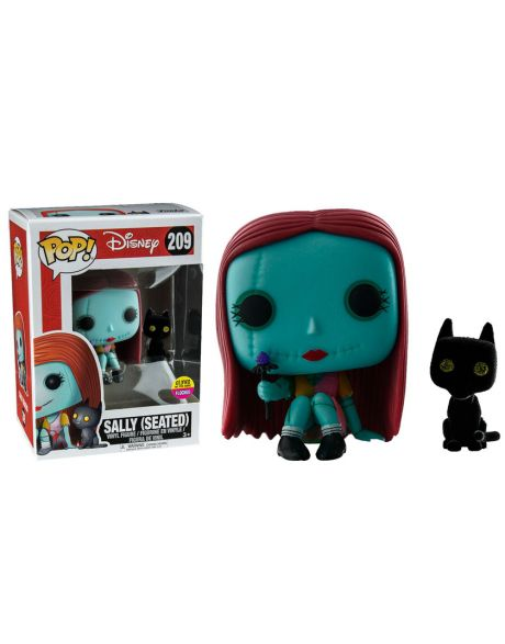 Funko Pop! Disney Nightmare Before Christmas - Sally (Seated) Glow in the Dark e Floccato