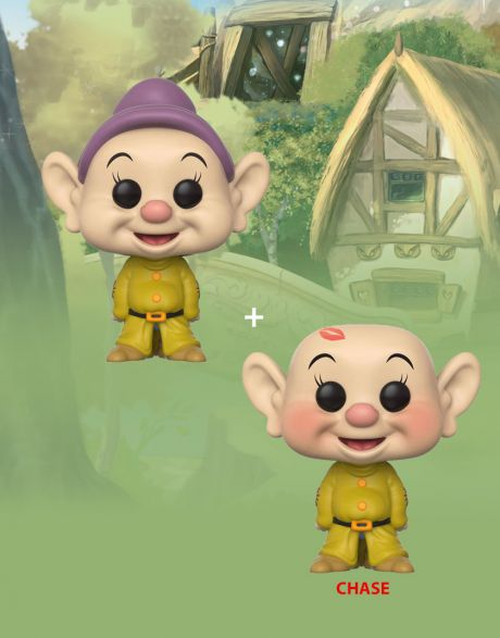 Funko Pop! Disney Snow White and the Seven Dwarfs - Dopey (Regular + Chase)