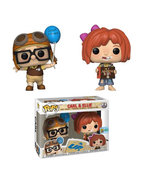 Funko Pop! Disney Up - Carl and Ellie SDCC 2019