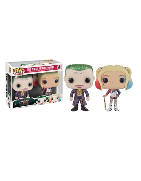 Funko Pop! The Joker / Harley Quinn (2 Pack Metallic)