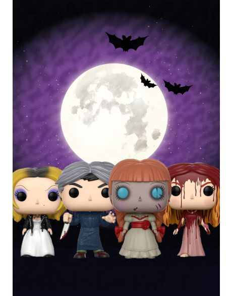 Funko Pop! Horror Set - Annabelle, Tiffany, Norman Bates e Carrie