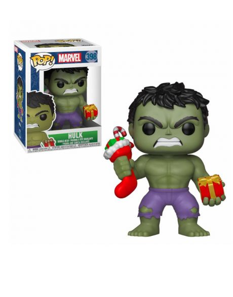 Funko Pop! Marvel Holiday - Hulk (Stocking & Plush) 398