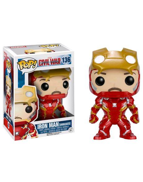 Funko Pop Marvel Iron Man senza maschera 136