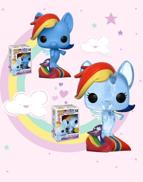 Funko Pop! My Little Pony Movie - Rainbow Dash Sea Pony 12 (Regular + Chase)