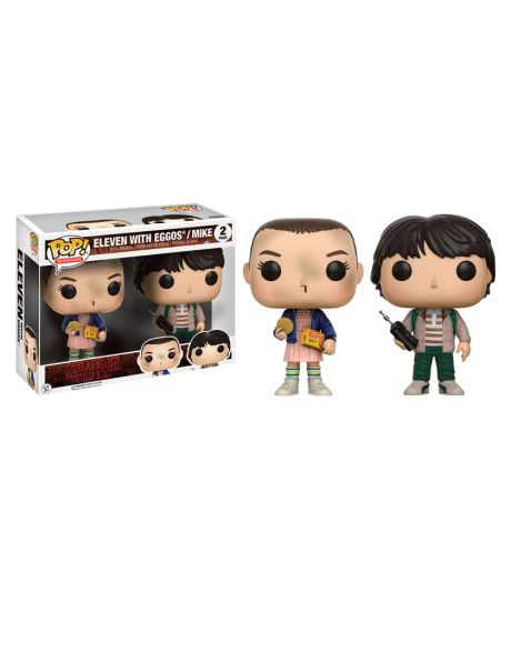 Funko Pop! Stranger Things - Eleven with Eggos / Mike (2 Pack)