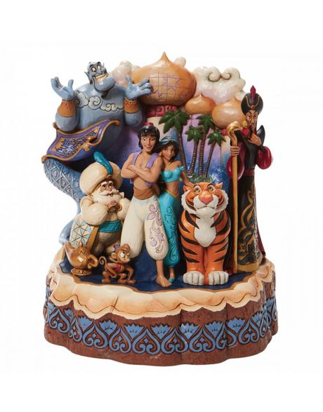 Jim Shore Disney Tradition - Aladdin Carved by Heart