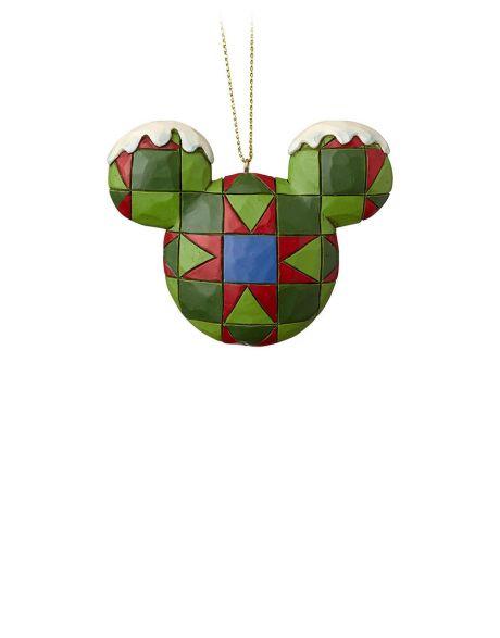 Jim Shore Natale - Decorazione per albero Mickey Mouse Head Green