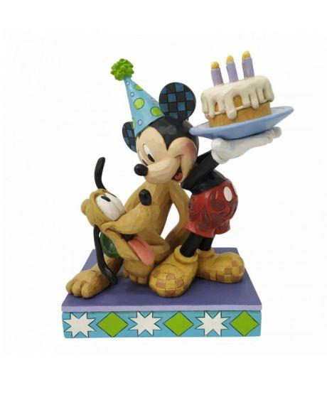 Jim Shore Disney Tradition - Topolino e Pluto Birthday