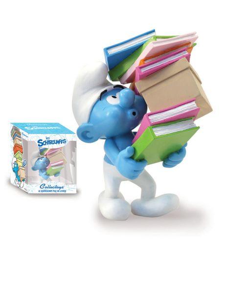 Plastoy Puffo con pila di libri