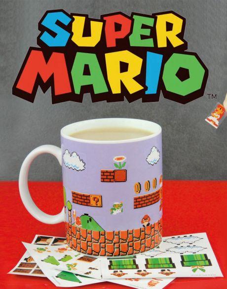 Tazza Super Mario Bros con adesivi