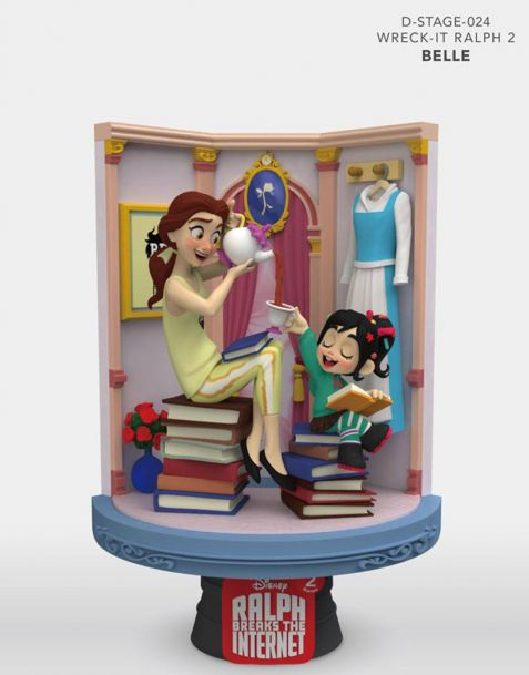 Beast Kingdom Toys Disney Diorama Ralph Breaks the Internet D-Stage - Belle & Vanellope