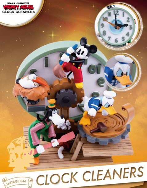 Beast Kingdom Toys Disney Mickey Mouse Diorama Clock Cleaners