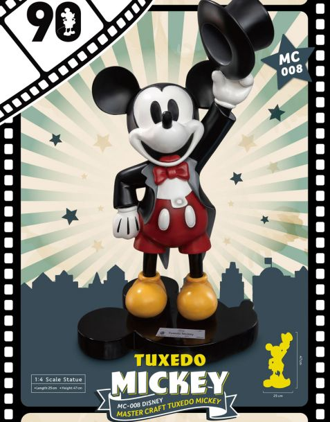 Beast Kingdom Toys Statua Disney Tuxedo Mickey 90th Anniversary