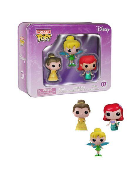 Funko Pocket Pop Box Disney Belle Ariel Tinker Bell