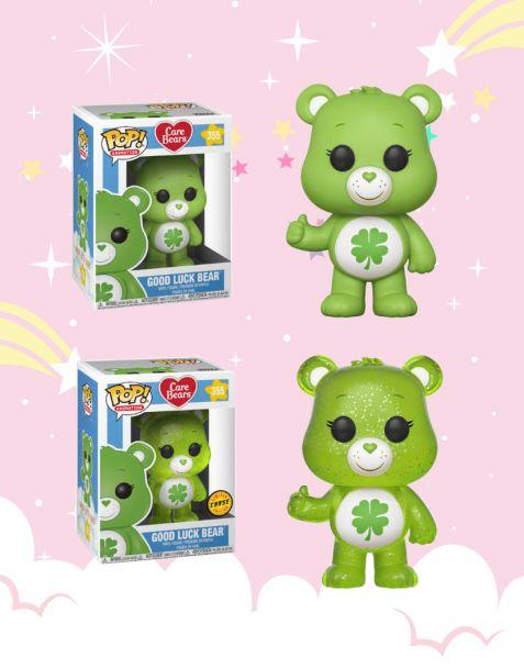 Funko Pop! Care Bears - Good Luck Bear 355 (Regular + Chase)