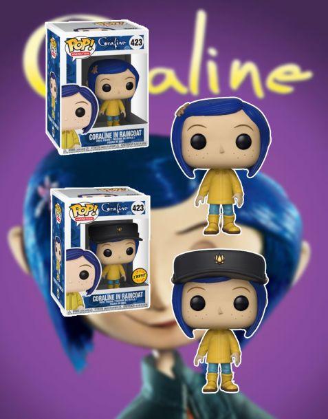 Funko Pop! Coraline - Coraline in Raincoat 423  (Regular + Chase)