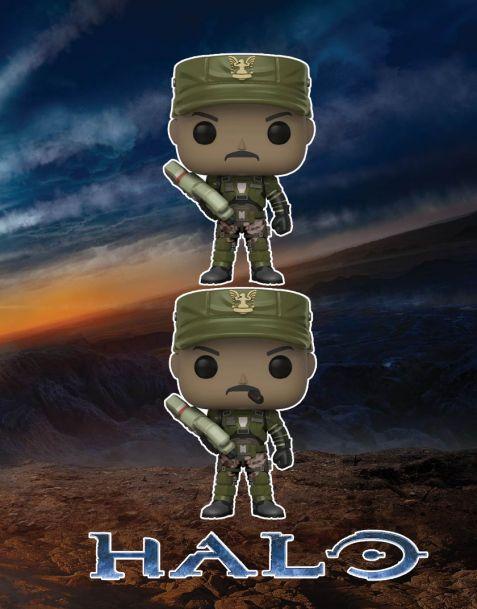 Funko Pop! Halo - Sgt. Johnson (Regular + Chase)