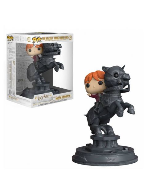Funko Pop! Movie Moments Harry Potter - Ron Riding Chess Piece 82