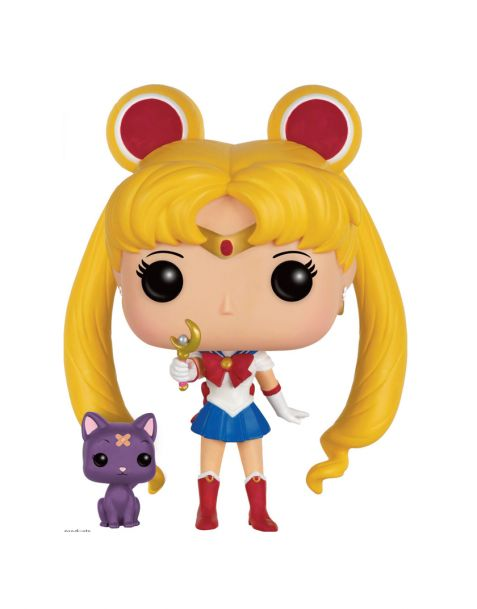 Funko Pop Sailor Moon con Scettro Lunare e Luna 90