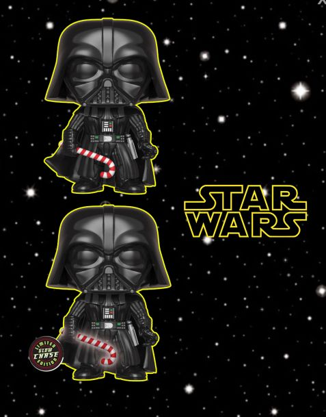 Funko Pop! Star Wars - Head Holiday Darth Vader (Regular + Chase)
