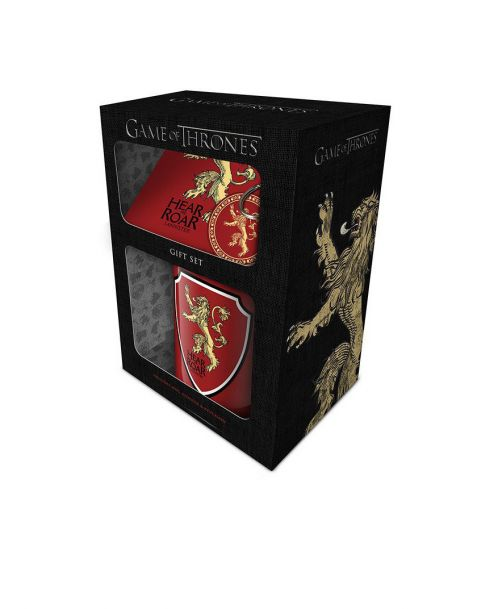 Gift Set Game of Thrones Lannister (Tazza, portachiavi e sottobicchiere)