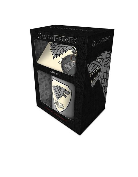 Gift Set Game of Thrones Stark (Tazza, portachiavi e sottobicchiere)