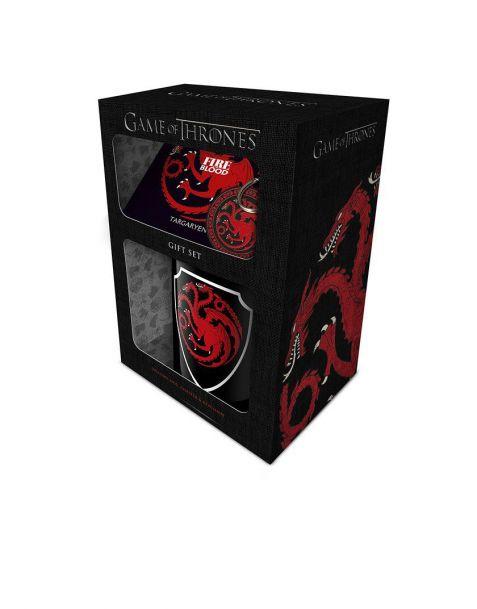 Gift Set Game of Thrones Targaryen (Tazza, portachiavi e sottobicchiere)