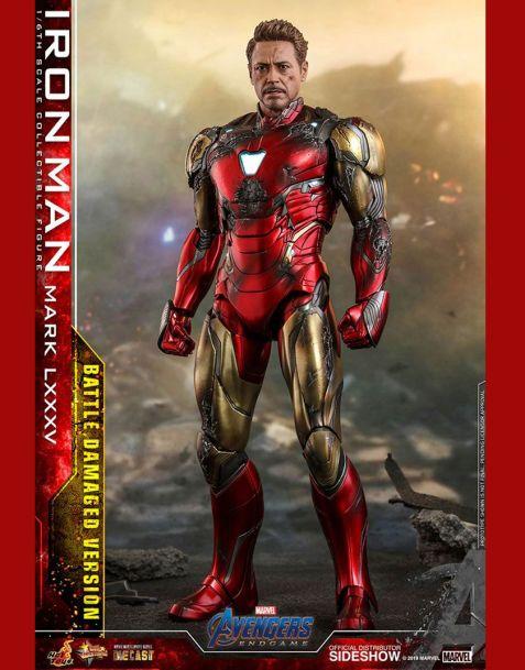 Hot Toys Avengers: Endgame MMS Diecast Action Figure Iron Man Mark LXXXV Battle Damaged