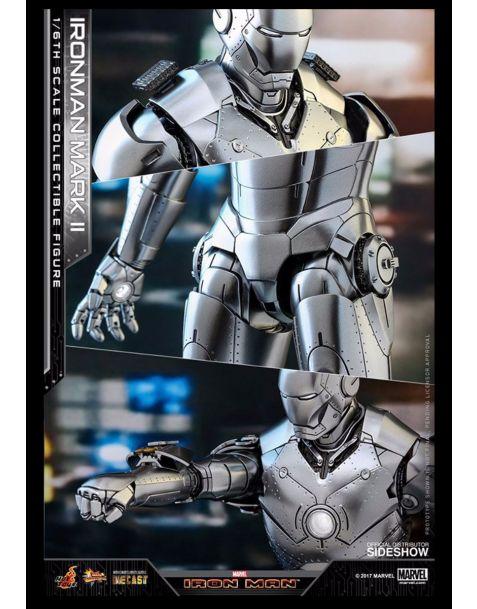 Hot Toys Iron Man 2 Diecast Movie Masterpiece Action Figure Iron Man Mark II
