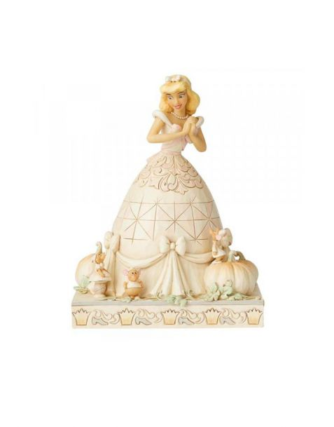 Jim Shore Disney Tradition - Cinderella White Woodland