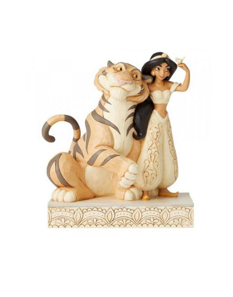 Jim Shore Disney Tradition - Jasmine White Woodland