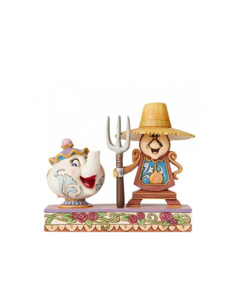 Jim Shore Disney Tradition - Mrs. Potts and Cogsworth