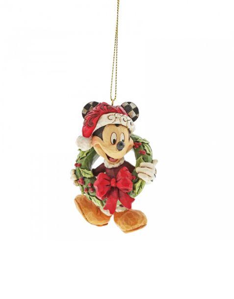 Jim Shore Natale - Decorazione per albero Mickey Mouse