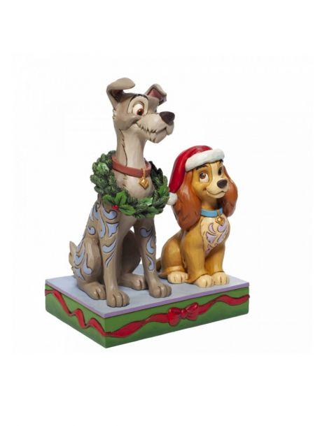 Jim Shore Disney Tradition - Lilli e il Vagabondo Natale 2020