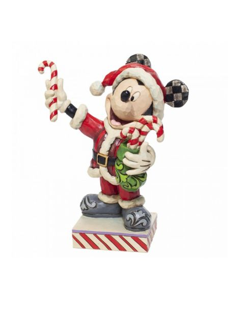 Jim Shore Disney Tradition - Topolino Mickey Mouse with Candy Canes