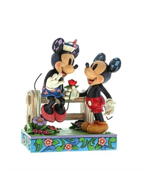 Jim Shore Disney Tradition - Mickey & Minnie Fence