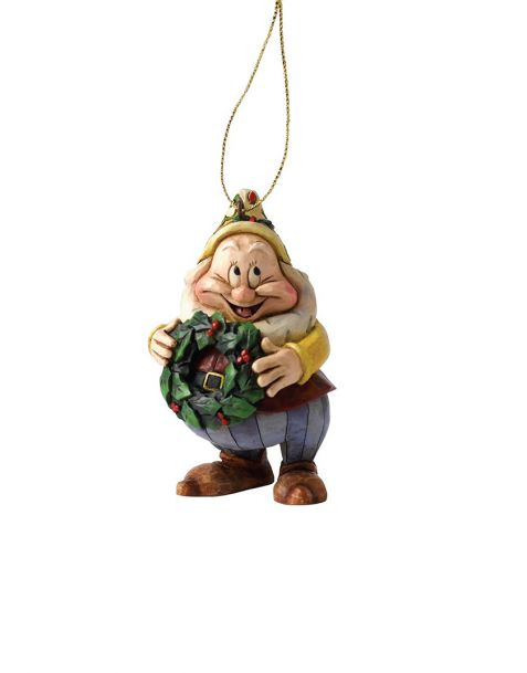 Jim Shore Natale - Decorazione per albero Gongolo (Happy)