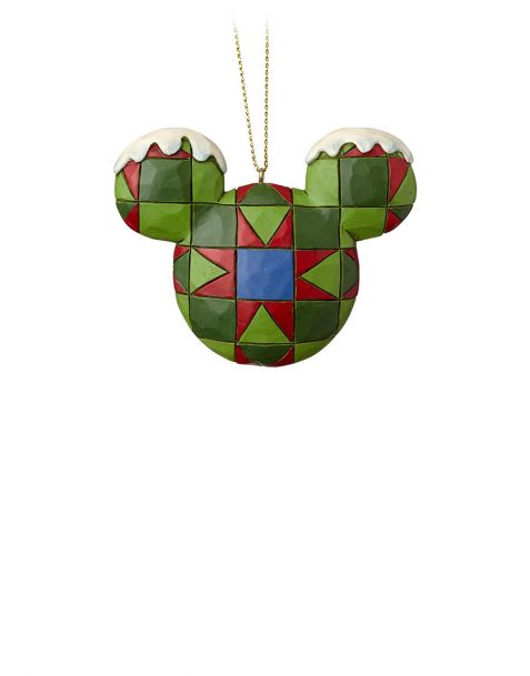Jim Shore Natale - Decorazione per albero Mickey Mouse Head Green