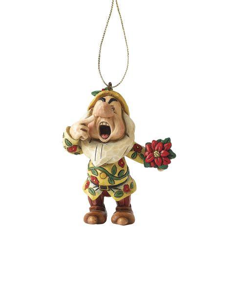 Jim Shore Natale - Decorazione per albero Eolo (Sneezy)