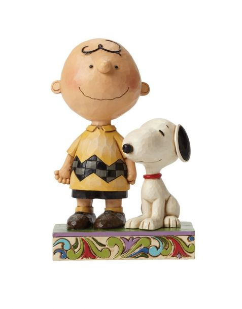 Jim Shore Peanuts - Snoopy and Charlie Brown Life is Better with a Dog