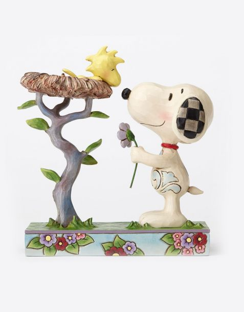 Jim Shore Peanuts - Snoopy and Woodstock in Nest