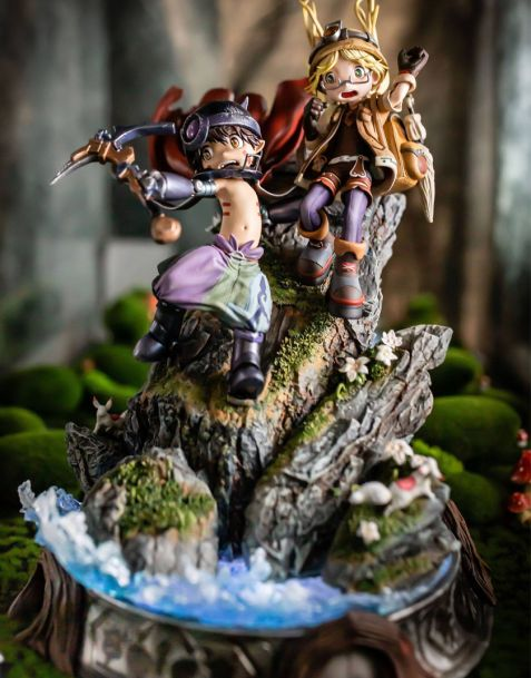 Statua Figurama Collectors Made in Abyss Elite Fandom Diorama - Riko & Reg