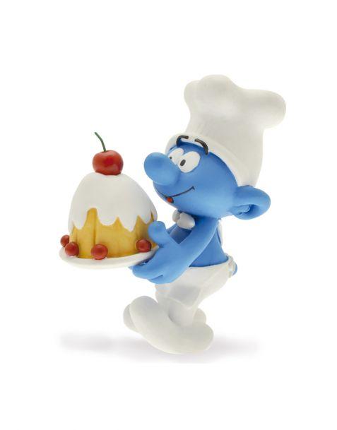 Plastoy Puffo Cuoco con torta
