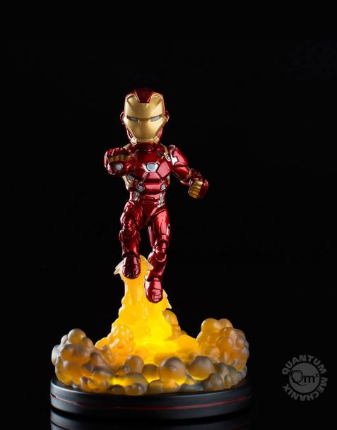 QMx Marvel Comics Light-Up Q-Fig - Iron Man