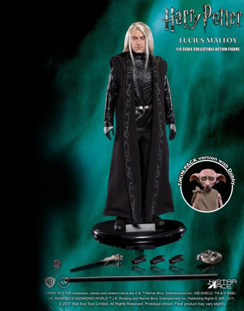 Star Ace Toys Action Figure Harry Potter MFM 2-Pack - Lucius Malfoy & Dobby